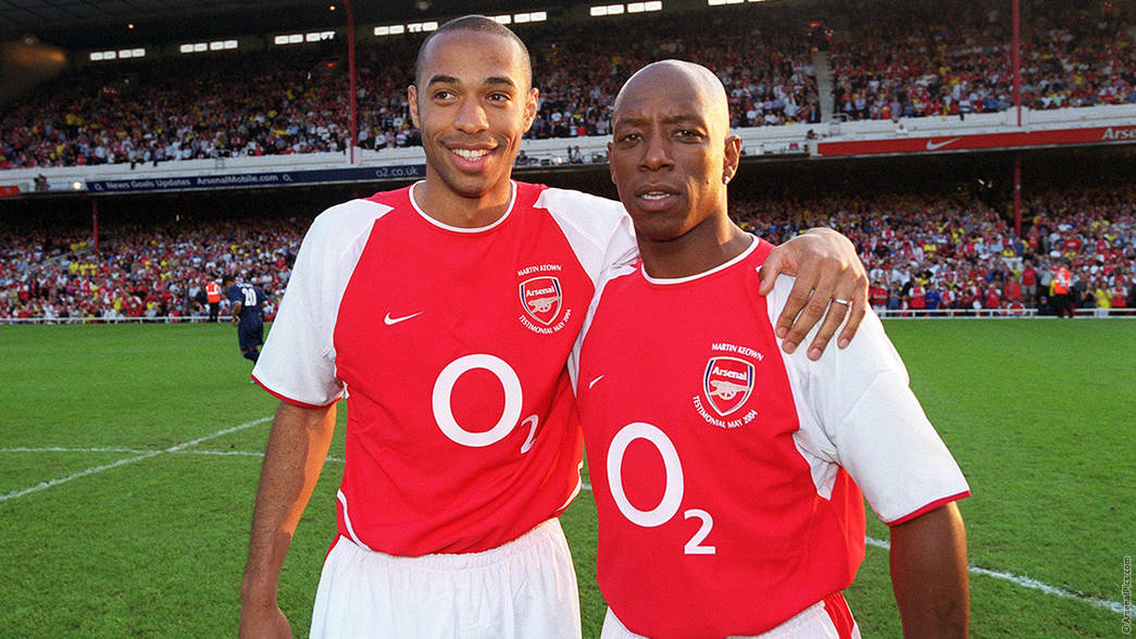 Thierry Henry and Ian Wright