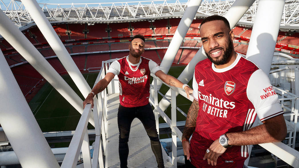Auba and Laca in our new adidas home kit