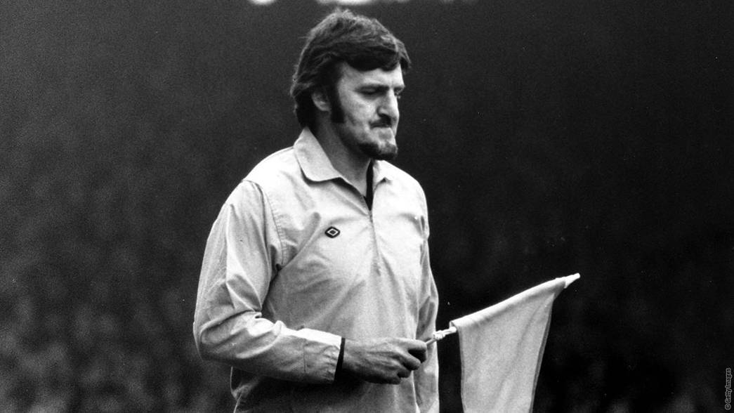 Jimmy Hill at Highbury in 1972
