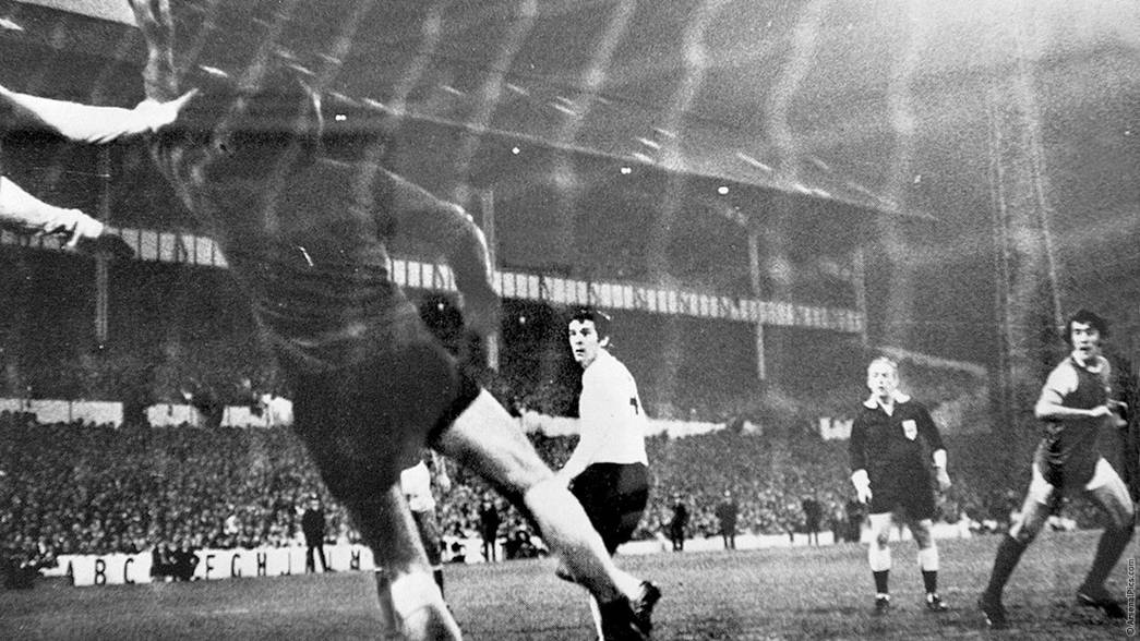 Ray Kennedy scores at White Hart Lane in 1971