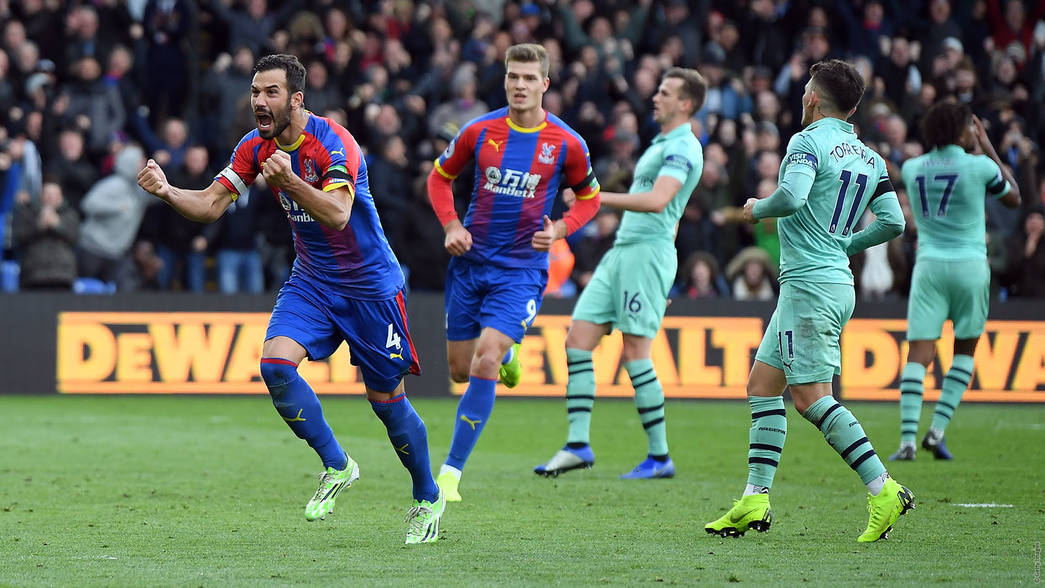 Palace celebrate their equaliser against us