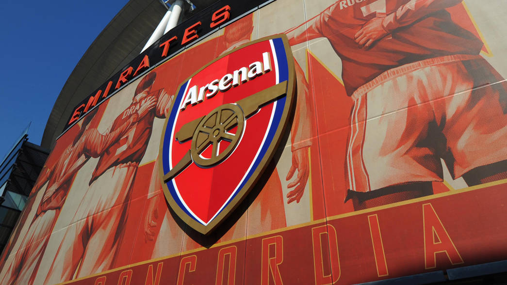 Arsenal crest on Emirates Stadium