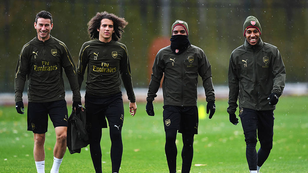 Arsenal train ahead of Wolves