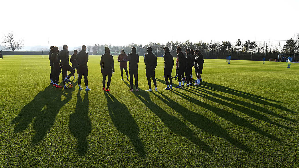 Arsenal train ahead of Bournemouth