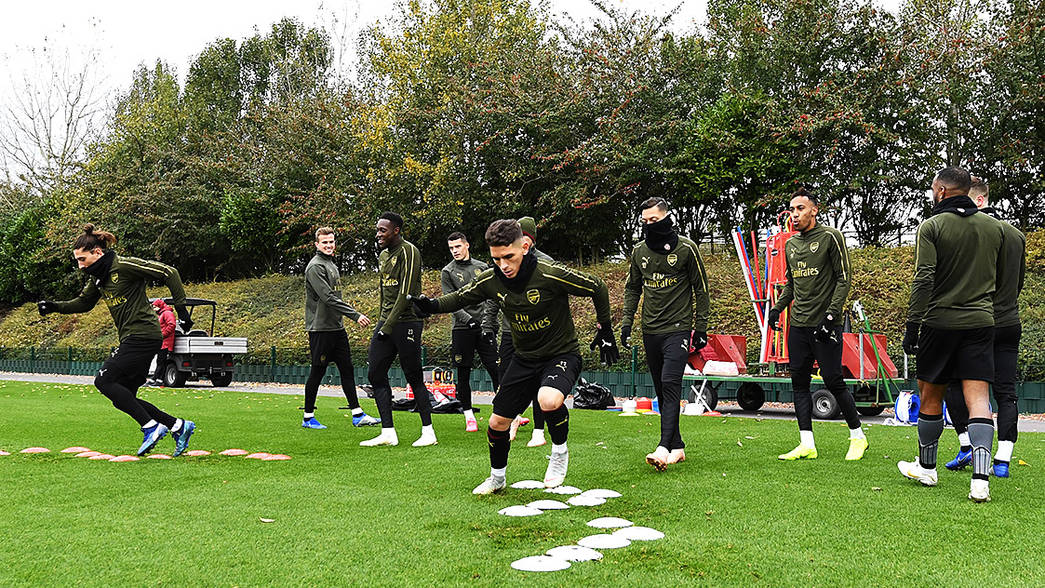 Arsenal train ahead of Palace