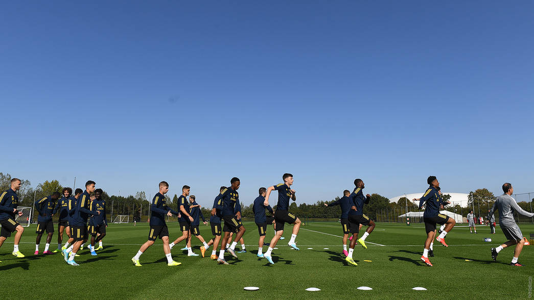 The boys train at London Colney