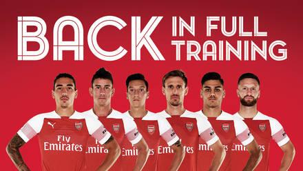 Team news: Six players back in full training | Team news | News