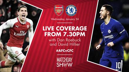 Arsenal chelsea match news