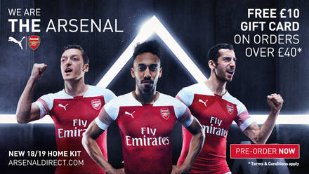 Arsenal and PUMA unveil new home kit 2018 19 bddf2cb9a