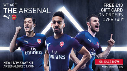Pictures  Arsenal s new PUMA away kit  b32492599