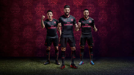 a9e725b98 Arsenal 2017 18 third kit now on sale