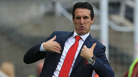 Image result for unai emery angry